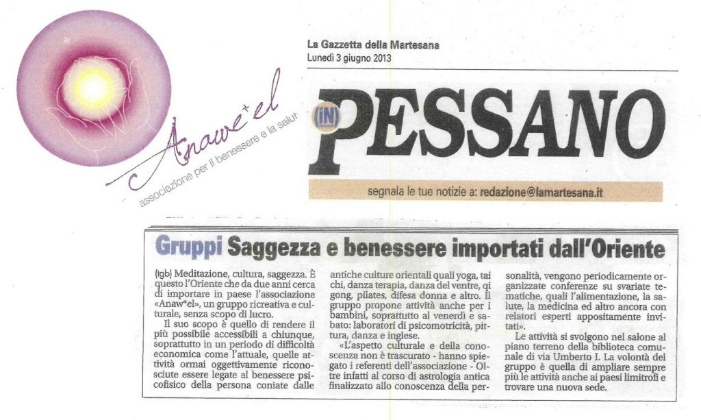 Articolo tratto da La Gazzetta della Martesana del 3 giugno 2013