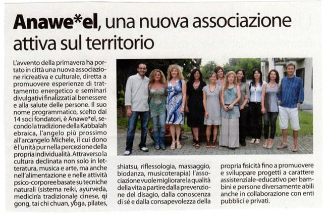 """Articolo tratto dal periodico """"La Filanda"""" n.3, luglio 2011."""