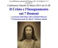 Conferenza IL CRISTO E L'INSEGNAMENTO DEI 7 DEMONI, venerdi 22 marzo 2013, ore 21.00, Biblioteca Comunale di Pessano con Bornago, via Umberto I, n.3
