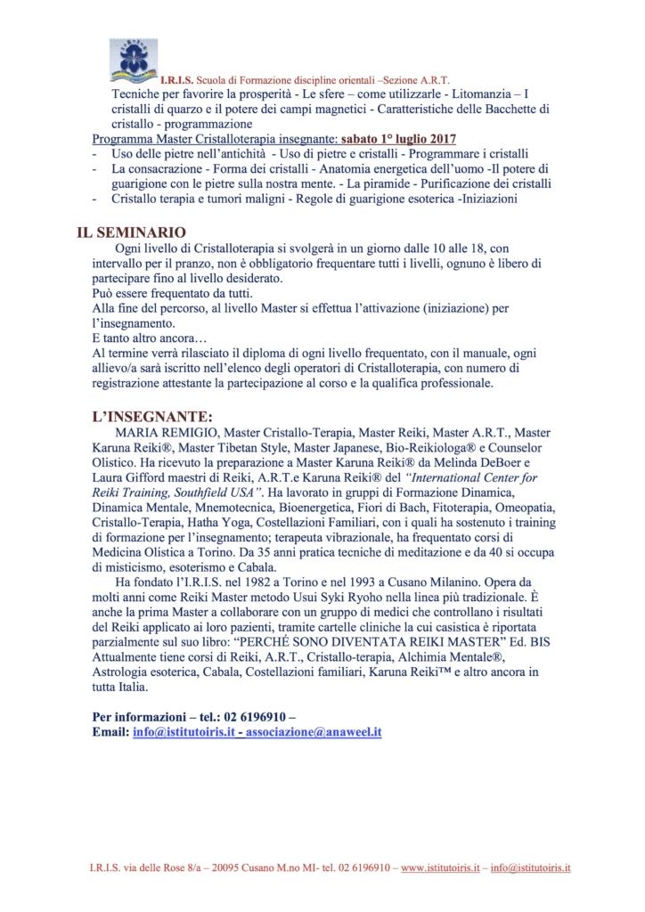 Cristalloterapia anaweel, 2016 il percorso - 3