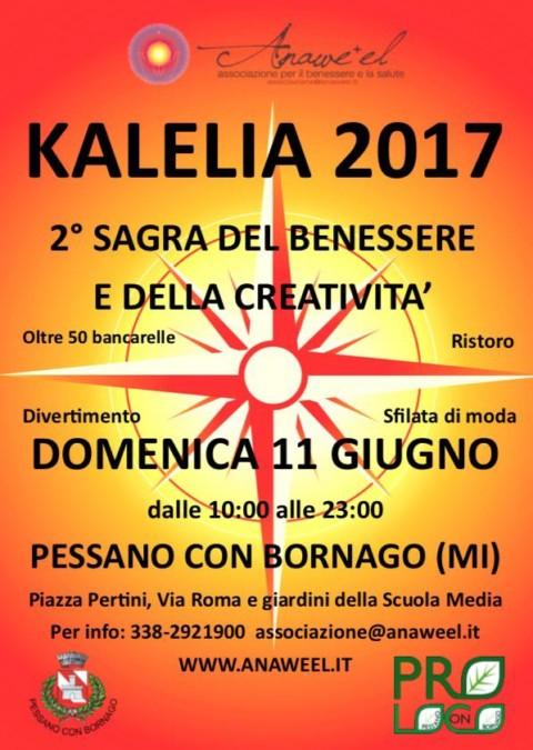 KALELIA – 2^ SAGRA DEL BENESSERE E DELLA CREATIVITA' – DOMENICA 11 GIUGNO PESSANO CON BORNAGO (MI)