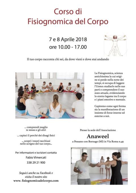 Corso di Fisiognomica del Corpo – 7 e 8 Aprile 2018 – ore 10.00 – 17.00
